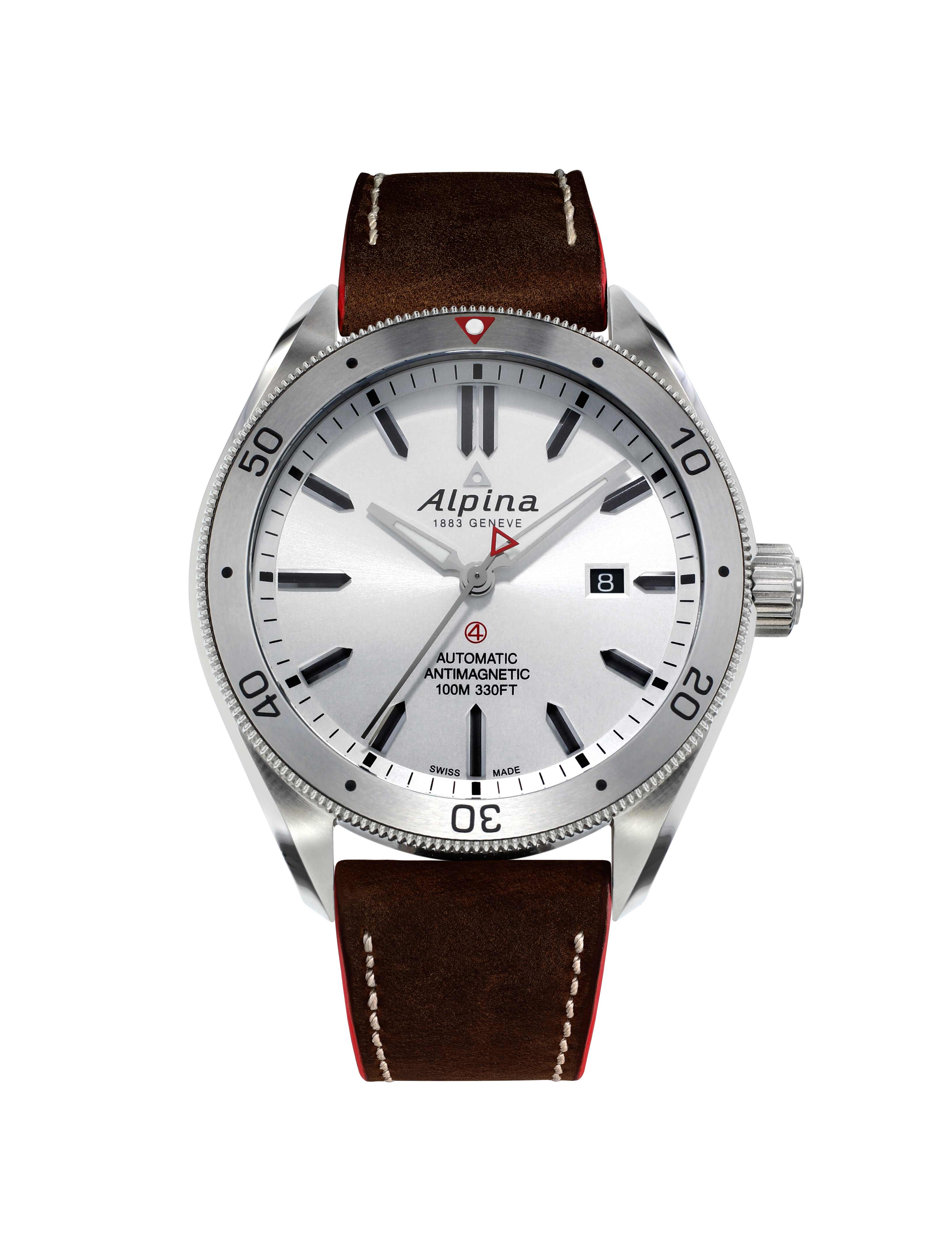 Silver dial. Alpina Watches©